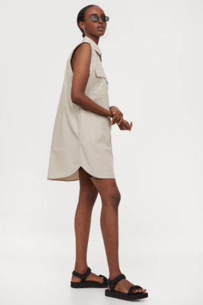 Oferta de Vestido camisero sin mangas por 8,99€