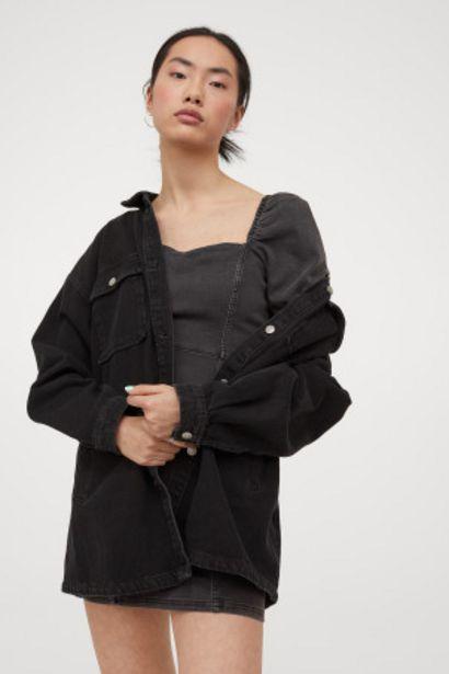 Oferta de Vestido denim con manga puffy por 8,99€