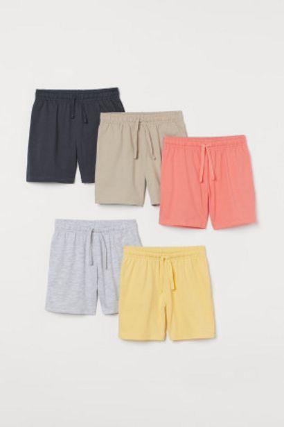 Oferta de Pack de 5 pantalones cortos por 14,99€