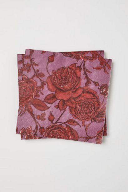 Oferta de Pack 20 servilletas de papel por 0,99€