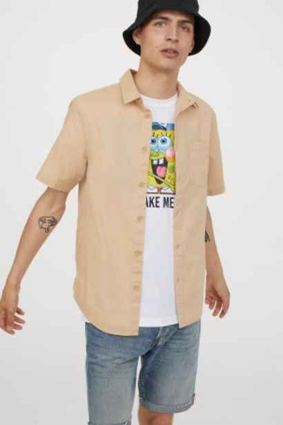 Oferta de Camisa de algodón manga corta por 2,99€