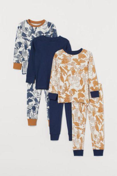 Oferta de Pack de 3 pijamas por 20,99€