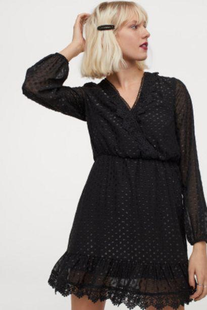 Oferta de Vestido de plumeti con encaje por 10,99€