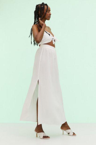 Oferta de Falda larga en mezcla de lino por 12,99€