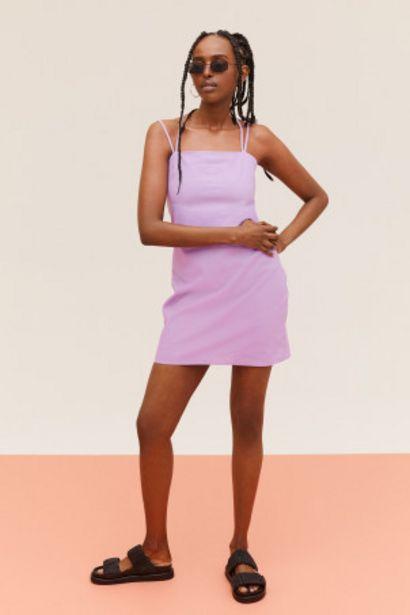 Oferta de Vestido en mezcla de lino por 8,99€