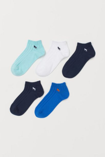 Oferta de Pack 5 calcetines tobilleros por 5,99€