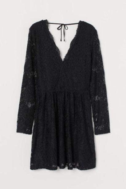 Oferta de Vestido de encaje escote en V por 14,99€