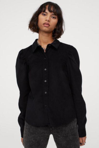 Oferta de Camisa de pana con manga puffy por 7,99€