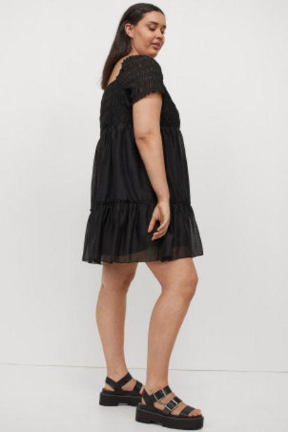 Oferta de H&M+ Vestido fruncido evasé por 12,99€