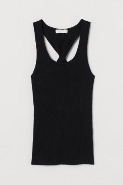 Oferta de Camiseta sin mangas en canalé por 6,99€