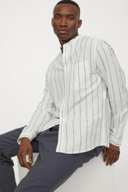 Oferta de Camisa de lino cuello mao por 7,99€