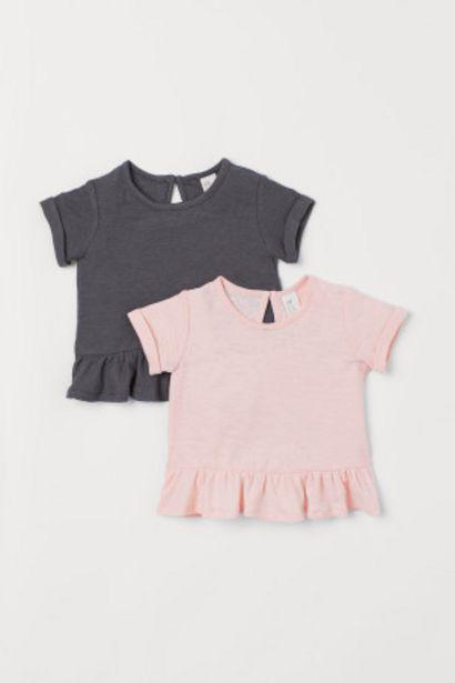 Oferta de Pack de 2 camisetas con lino por 4,99€