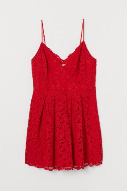 Oferta de H&M+ Vestido corto de encaje por 15,99€