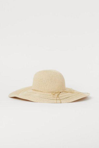 Oferta de Sombrero de paja con brillo por 4,99€