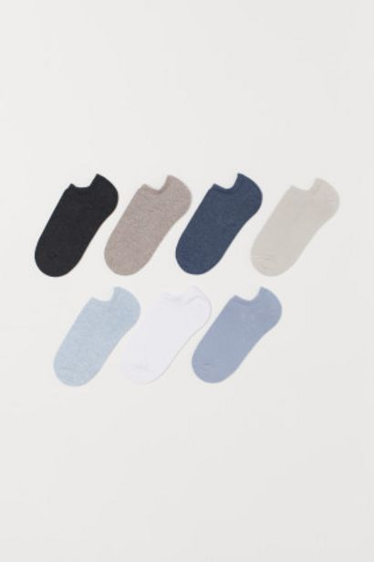 Oferta de Pack 7 calcetines tobilleros por 4,99€