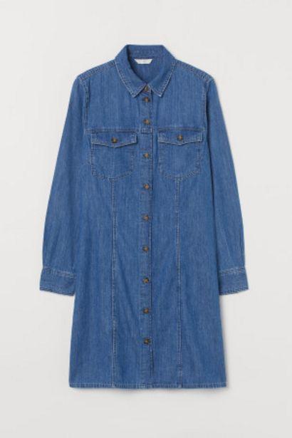 Oferta de Vestido camisero en denim por 15,99€