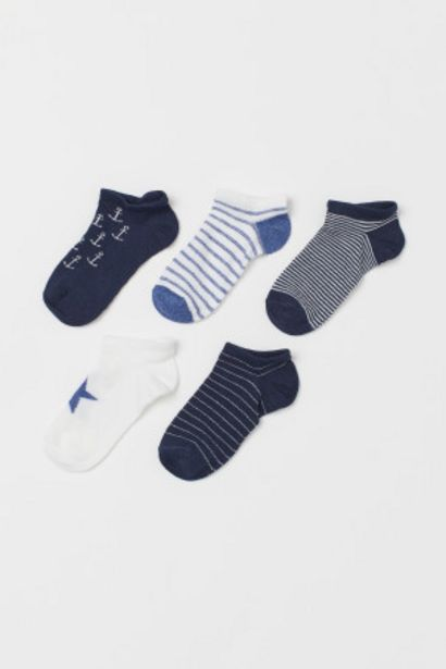 Oferta de Pack 5 calcetines tobilleros por 3,99€