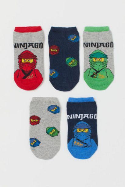 Oferta de Pack 5 calcetines tobilleros por 4,99€