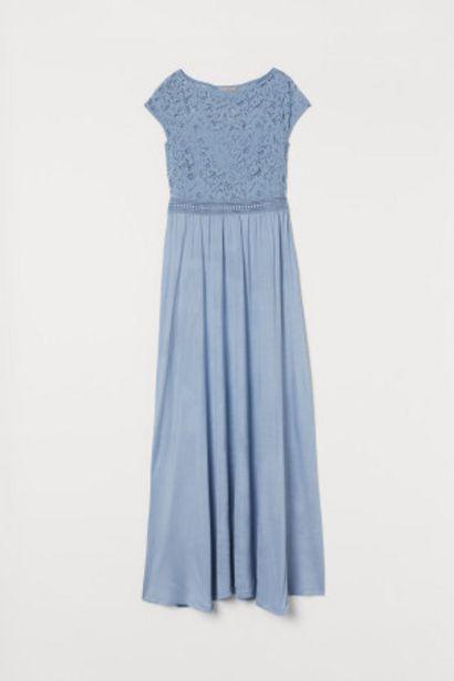 Oferta de Vestido largo con encaje por 17,99€
