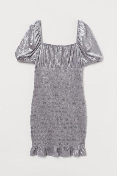Oferta de Vestido fruncido de velour por 5,99€
