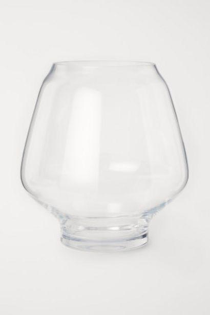 Oferta de Jarrón grande de vidrio por 32,99€