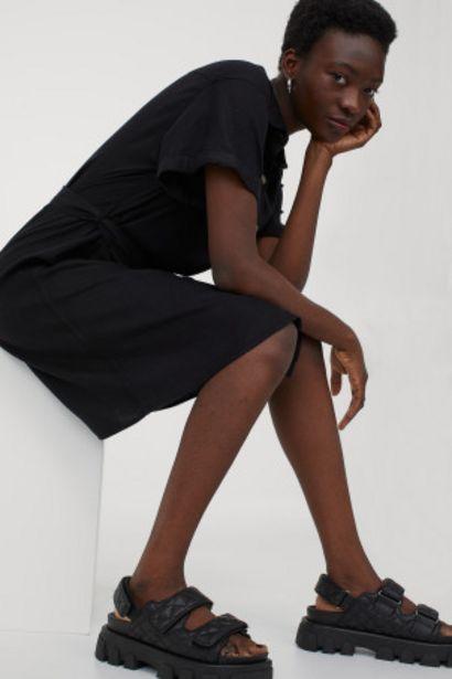 Oferta de Vestido camisero con lino por 11,99€