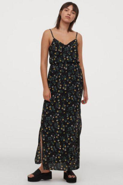 Oferta de Vestido largo de crepé por 11,99€