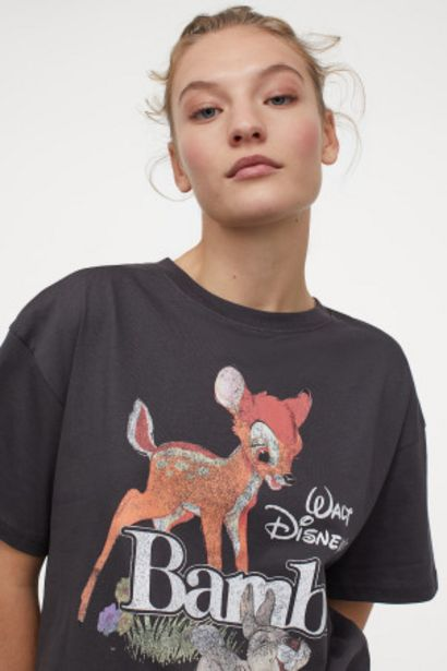 Oferta de Camiseta oversize estampada por 5,99€