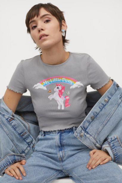 Oferta de Camiseta cropped por 4,99€