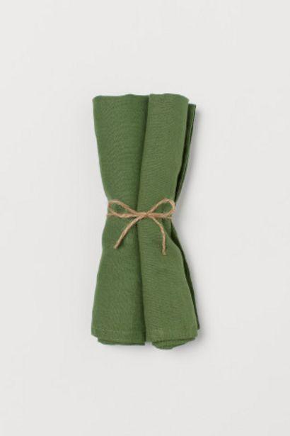 Oferta de Pack de 2 servilletas de lino por 4,99€