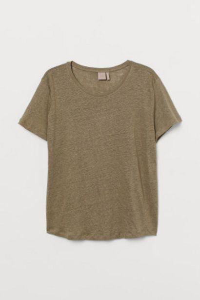 Oferta de H&M+ Camiseta de lino por 4,99€