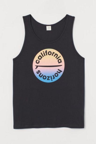 Oferta de Camiseta sin mangas con motivo por 5,99€