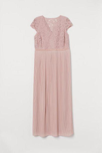Oferta de H&M+ Vestido plisado de encaje por 34,99€