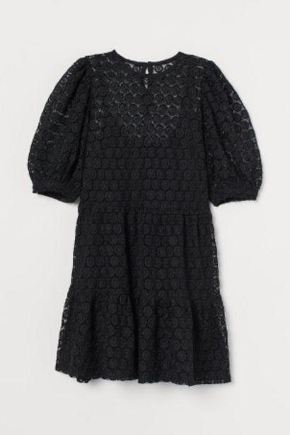 Oferta de Vestido de encaje manga puffy por 21,99€