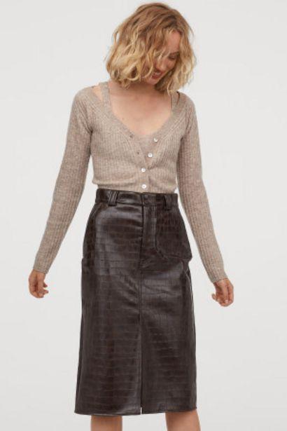 Oferta de Falda en piel sintética por 11,99€