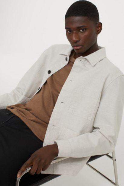 Oferta de Chaqueta camisera con lino por 6,99€