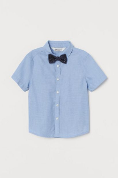 Oferta de Camisa con corbata/pajarita por 5,99€