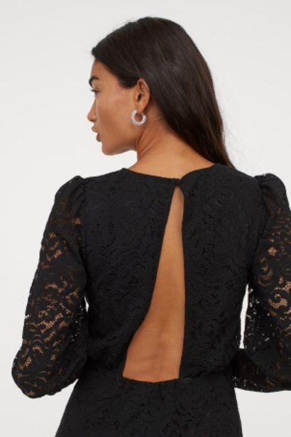 Oferta de Vestido de encaje manga puffy por 10,99€