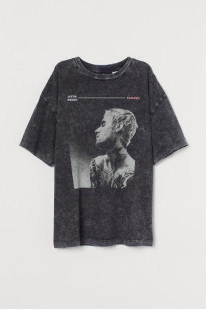 Oferta de Camiseta oversize con motivo por 4,99€