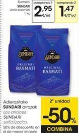 Oferta de Arroz basmati Sundari por 2,95€
