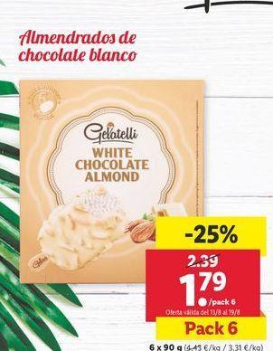 Oferta de Almendrado de chocolate blanco Gelatelli  por 1,79€