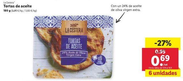 Oferta de Tortas de aceite  La Cestera por 0,69€