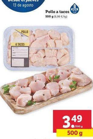 Oferta de Pollo a tacos por 3,49€