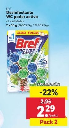 Oferta de Desinfectante wc poder activo Bref WC por 2,29€