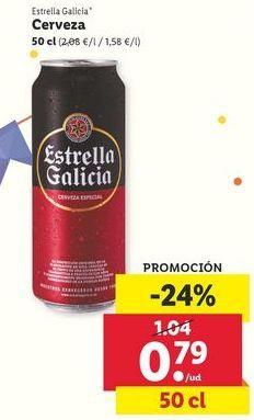 Oferta de Cerveza Estrella Galicia por 0,74€