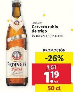 Oferta de Cerveza rubia de trigo  Erdinger por 1,19€