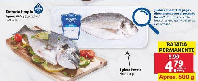 Oferta de Dorada limpia por 4,79€