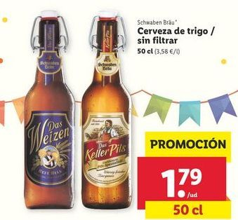 Oferta de Cerveza de trigo Schwaben Brau por 1,79€