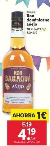 Oferta de Ron añejo Baraguá por 4,19€