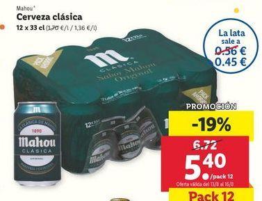 Oferta de Cerveza Mahou por 5,4€